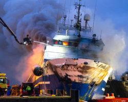 ship onboard fire