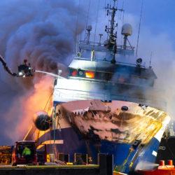 ship onbroad fire