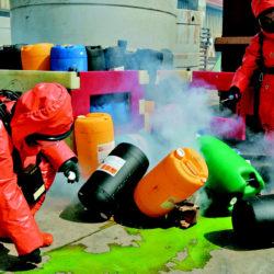 Toxic vapour suppression