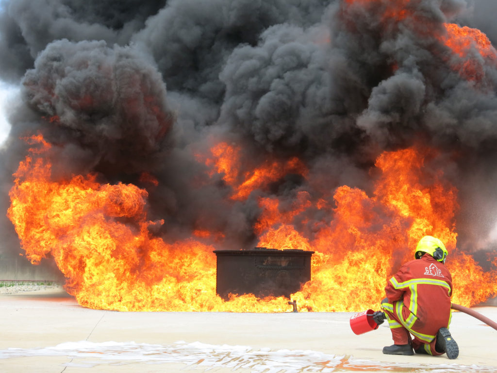 hydrocarbon fire foam test