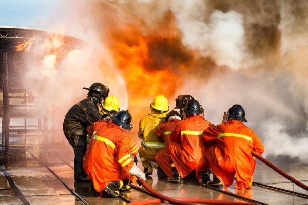 BIOEX firefighting team